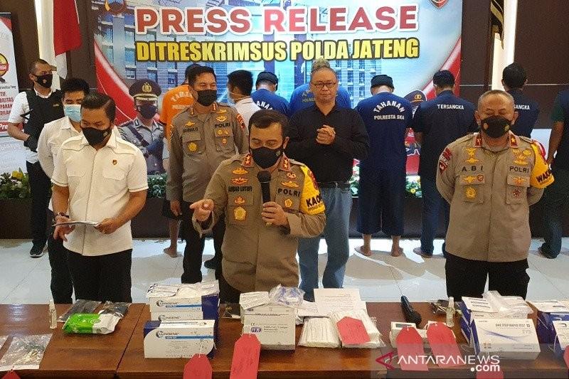 Ditreskrimsus Polda Jateng Bongkar Penjual Alat tes rapid Anti Gen Ilegal